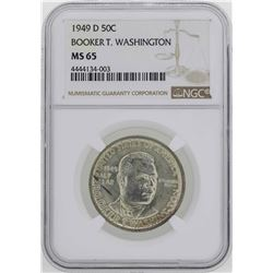 1949-D Booker T. Washington Memorial Half Dollar Coin NGC MS65