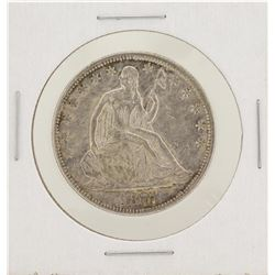 1877 Seated Liberty Half Dollar Silver Coin