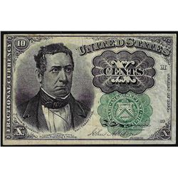 1874 Ten Cents Fifth Issue Green Seal Fractional Currency Note