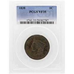 1838 Cornet Head Cent PCGS VF35