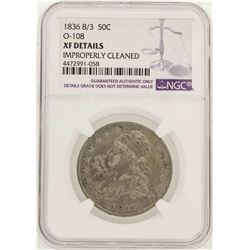 1836 Over 1336 Capped Bust Half Dollar Coin O-108 NGC XF Details