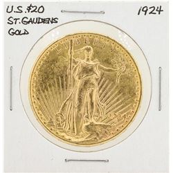 1924 $20 St. Gaudens Double Eagle Gold Eagle Coin