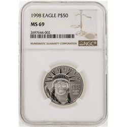 1998 $50 American Eagle Platinum Coin NGC MS69