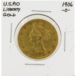 1906-O $10 Liberty Head Eagle Gold Coin