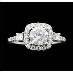 18KT White Gold 1.63ctw Diamond Ring