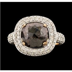 14KT Rose Gold 4.48ctw Brown Diamond Ring