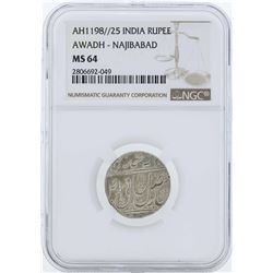 AH1198//25 India Rupee Coin NGC MS64