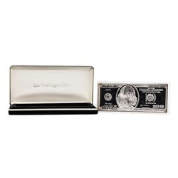 2004 $100 Washington Mint 4 oz. .999 Fine Silver Bar w/ Box COA