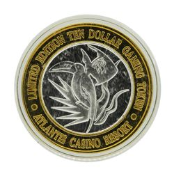.999 Silver Atlantis Casino Resort Reno, NV $10 Casino Limited Edition Gaming To