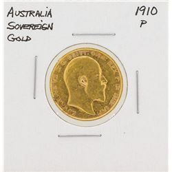 1910-P Australia Sovereign Gold Coin