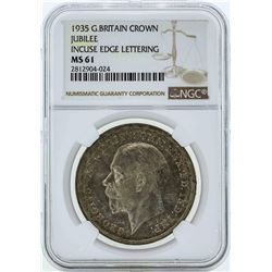 1935 Great Britain Crown Jubilee Coin NGC MS61