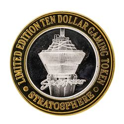 .999 Silver Stratosphere Las Vegas, NV $10 Casino Limited Edition Gaming Token