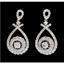 14KT White Gold 1.75ctw Diamond Earrings