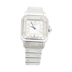 Ladies Cartier Stainless Steel Santos de Cartier Wristwatch