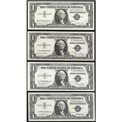 Lot of (4) 1935 & 1957 $1 Silver Certificate Notes