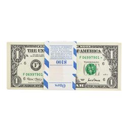 Pack of (100) Consecutive 2001 $1 Federal Reserve Star Notes Atlanta
