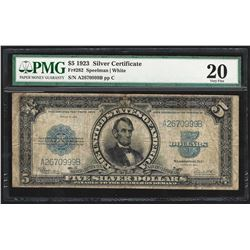 1923 $5 Porthole Silver Certificate Note PMG Very Fine 20