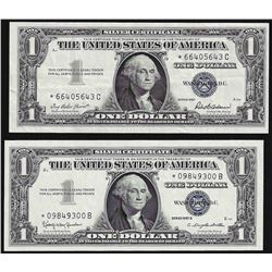 Lot of (2) 1957 $1 Silver Certificate STAR Notes