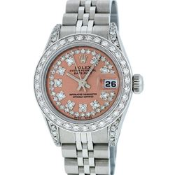 Rolex Stainless Steel 1.00ctw Diamond Datejust Ladies Wristwatch