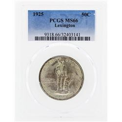 1925 Lexington Commemorative Half Dollar Coin PCGS MS66