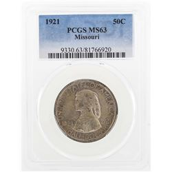 1921 Missouri Centennial Commemorative Half Dollar Coin PCGS MS63