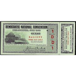 July 1948 Democratic National Convention Ticket