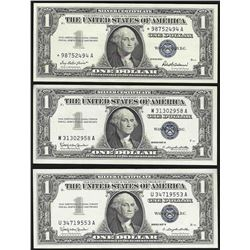Lot of (3) 1957 $1 Silver Certificate Notes