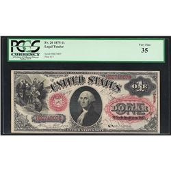 1875 $1 Legal Tender Note Fr.20 PCGS Very Fine 35