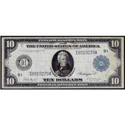 1914 $10 Federal Reserve Note Blue Seal