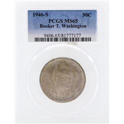 1946-S Booker T Washington Memorial Commemorative Half Dollar Coin PCGS MS65