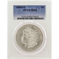1880/9-S $1 Morgan Silver Dollar Coin PCGS MS63
