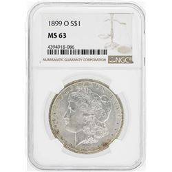 1899-O $1 Morgan Silver Dollar Coin NGC MS63