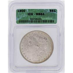 1900 $1 Morgan Silver Dollar Coin ICG MS64