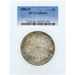 1882-O $1 Morgan Silver Dollar Coin PCGS MS64+