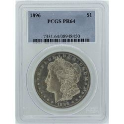 1896 $1 Morgan Silver Dollar Proof Coin PCGS PR64