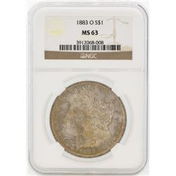 1883-O $1 Morgan Silver Dollar Coin NGC MS63 Great Toning