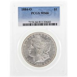 1884-O $1 Morgan Silver Dollar Coin PCGS MS66