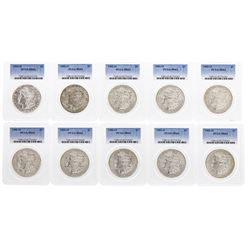 Lot of (10) 1902-O $1 Morgan Silver Dollar Coins PCGS MS63