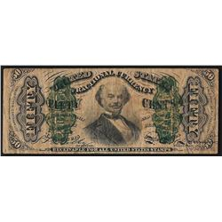 March 3, 1863 Fifty Cent Third Issue Fractional Note - Internal Tear