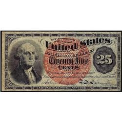 March 3, 1863 Twenty Five Cents Fourth Issue Fractional Currency Note - Internal