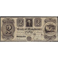 1837 $2 The Bank of Manchester Note
