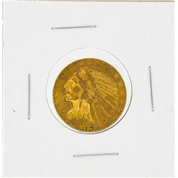 1912-S $5 Indian Head Half Eagle Gold Coin