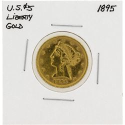 1895 $5 Liberty Head Eagle Gold Coin