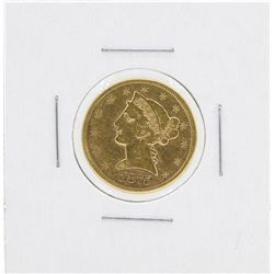1875-CC $5 Liberty Head Half Eagle Gold Coin