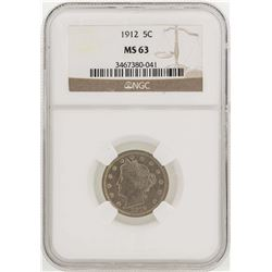 1912 Liberty Head Nickel Coin NGC MS63