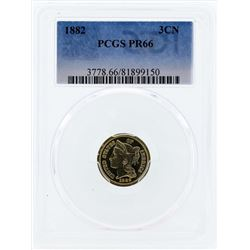 1882 Three Cent Proof Nickel PCGS PR66