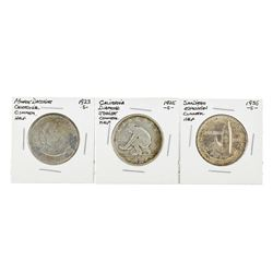 Set of (3) Commemorative Half Dollar Coins