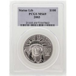 2003 $100 American Eagle Platinum Coin PCGS MS69