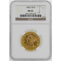 1902-S $10 Liberty Head Eagle Gold Coin NGC MS65