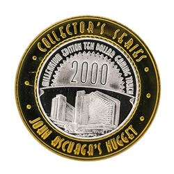 .999 Silver Nugget Sparks Nevada $10 Casino Limited Edition Gaming Token